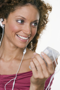 Woman Enjoying Her MP3 Player