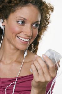 Woman Enjoying Her MP3 Player