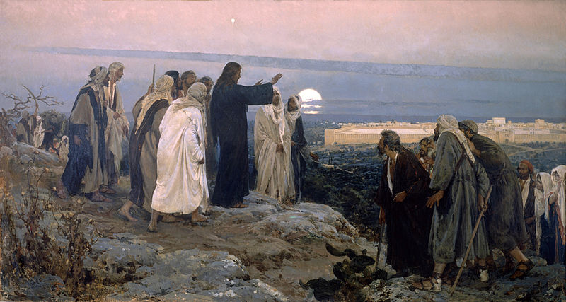"""Flevit super illam"" (He wept over it); by Enrique Simonet, 1892"