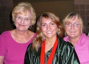Kathleen Y'Barbo and Mom (with Kathleen's daughter)