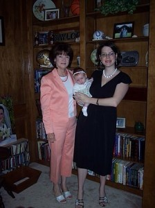 Kristen Ethridge with Mom (and Kristen's daughter)