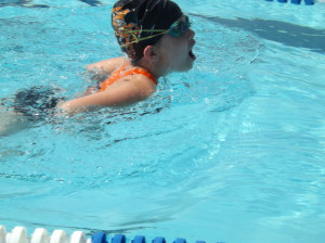 The 9yo individual breaststroke
