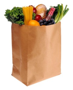 Bag of groceries-Clip art