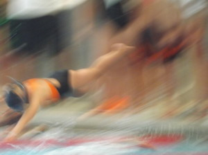 I'm pretty sure this is my 10yo in her freestyle relay, but I'm not sure - I love the pic though ;)