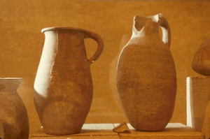 Pottery found in Jerusalem from time of Jesus Israel Jerusalem Lithostrotos Museum  First Century