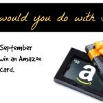Amazon Gift Card Giveaway–What Would You Do With $300?