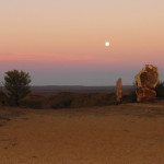 Image of the Living Desert at Broken Hill Australia, at sunset