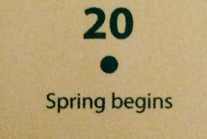 Spring begins!