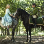 Cinderella and Prince on horses