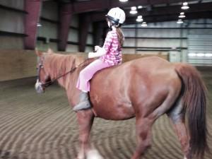Emily riding bareback last Sunday