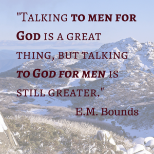 -Talking to men for God is a great
