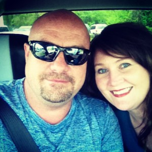 Me and my husband headed to the folk festival.