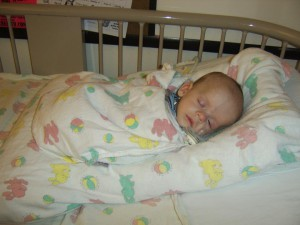 Our son in the hospital while we decided what the best course of action would be.