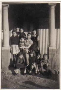 Widow Anna Jackson with 9 of her 11 children