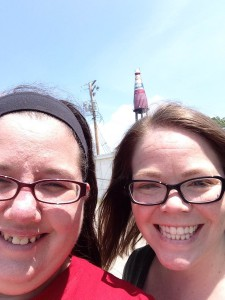 Me and Jessica Keller at the World's Largest Catsup Bottle