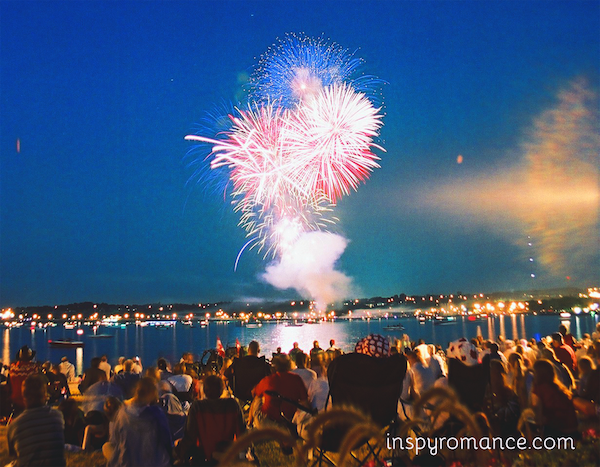 Fireworks in Barrie, Ontario, Canada (Wikipedia)