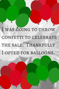 Balloons Instead of Confetti
