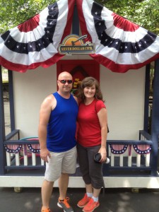 At Silver Dollar City on the 4th of July