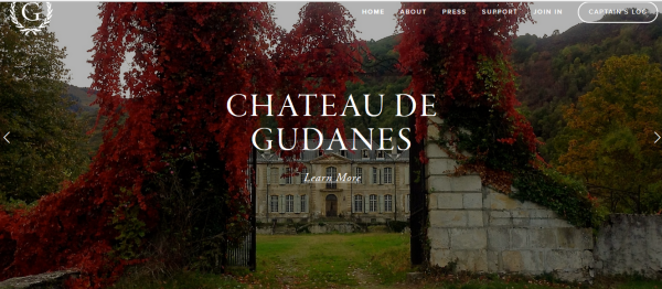 Gorgeous Chateau de Gudanes! Image from their website.