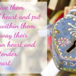 Image of love lock with Bible verse Ezekiel 11:19, from Autumn Macarthur on Inspy Romance