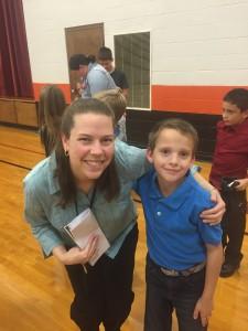 Kiddo #4 and his teacher