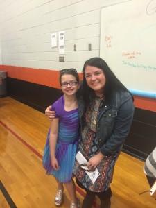 Kiddo #3 and her teacher