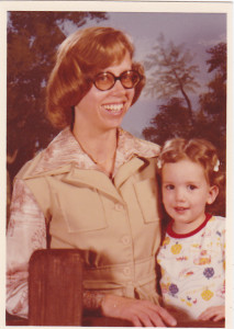 Me and my mom, circa late 1970s