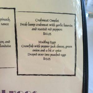 mudbug menu