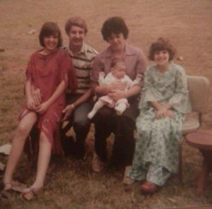 Thanksgiving 1978. I'm the long legged ten year old. We would write plays and preform them.