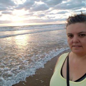 Walking along the coast of Texas. South Padre