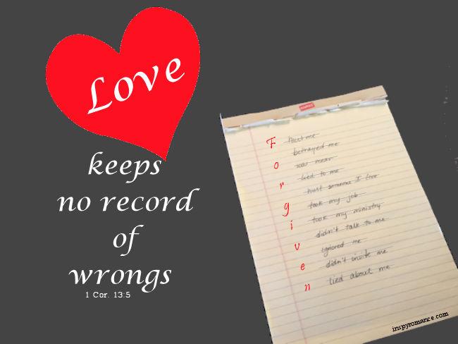 love keeps no record of wrongs
