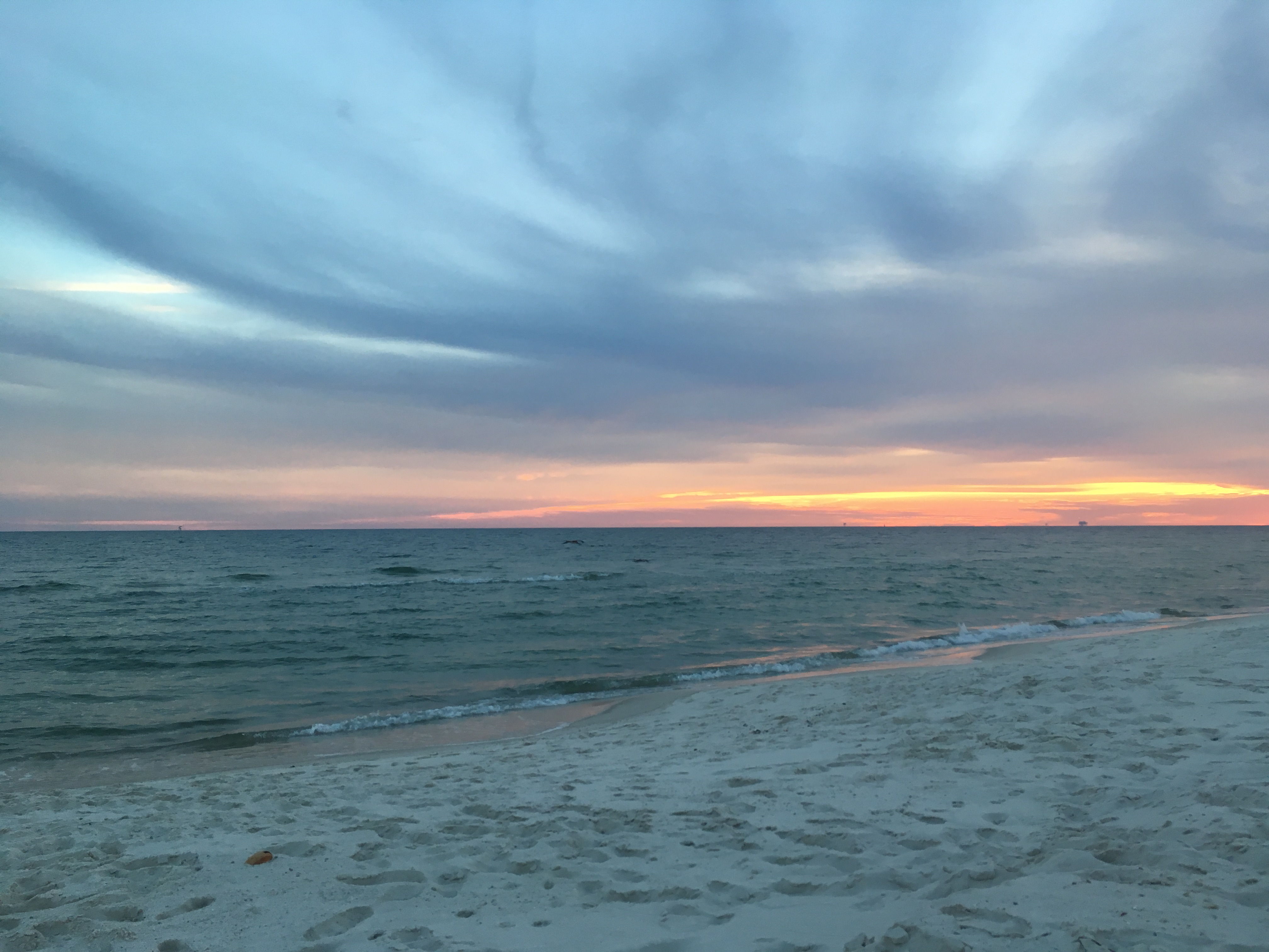Fort Morgan, Alabama beach sunset