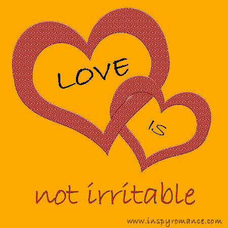 LOVE IS not irritable1