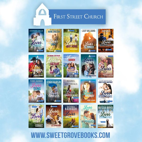 Covers for all twenty sweet and clean inspirational romances in the First Street Church Kindle Worlds launch