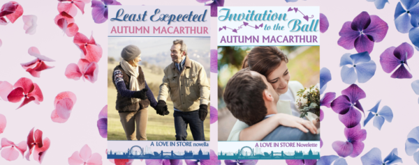 Cover images for Least Expected and Invitation to the Ball, free sweet Christian romances by Autumn Macarthur
