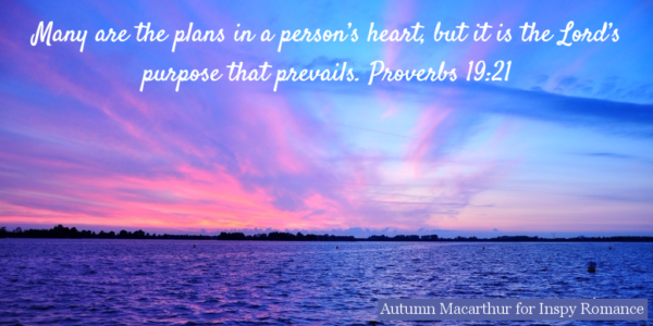 Image of sunrise over the ocean with Bible verse Proverbs 19:21