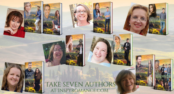 Authors and cover images for A Tuscan Legacy, new nine-book multi-author series launching April 2018