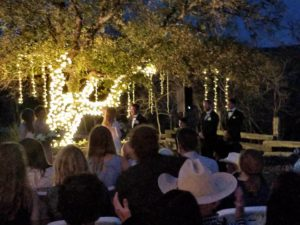 Texas Hill Country Wedding under the Lights.