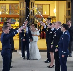 Winter Wedding with a Military Tradtion.