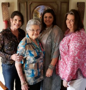Jolene with sisters Tracye & Mandy and their 90-year-old grandmother