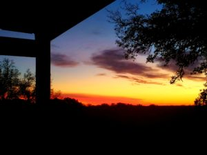 Texas Sunrise - my writing view
