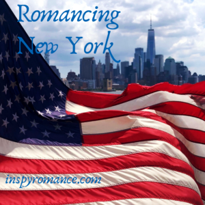 American Flag Flying over New York New York - Jolene Navarro