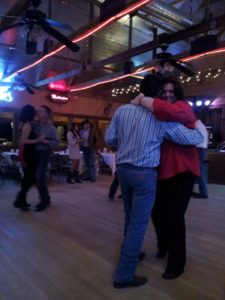 Dancing with my sweetheart to reduce stress. Jolene Navarro