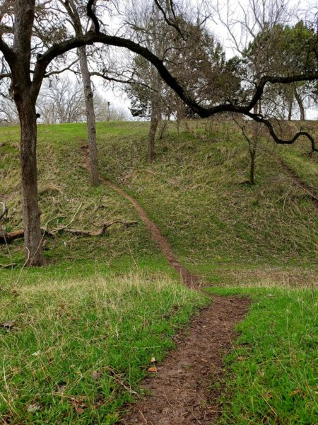 Texas paths. Hiking reduces stress. Jolene Navarro